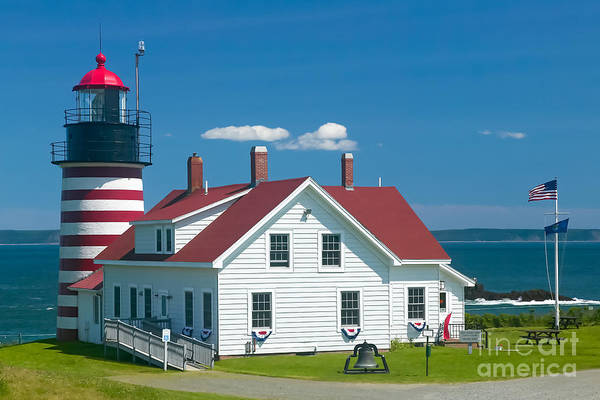 Photograph - West Quoddy Head Light by Clarence Holmes