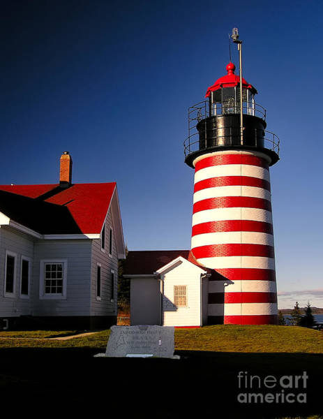 Photograph - West Quoddy Head Lighthouse by Nick Zelinsky