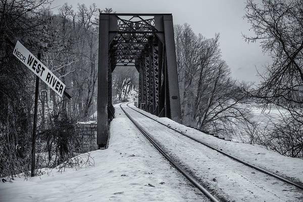 Photograph - West River Rr Bridge by Tom Singleton