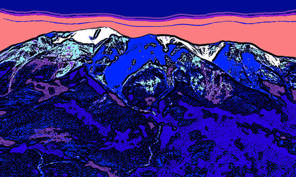 Wall Art - Digital Art - West Spanish Peak- Colorado by David G Paul