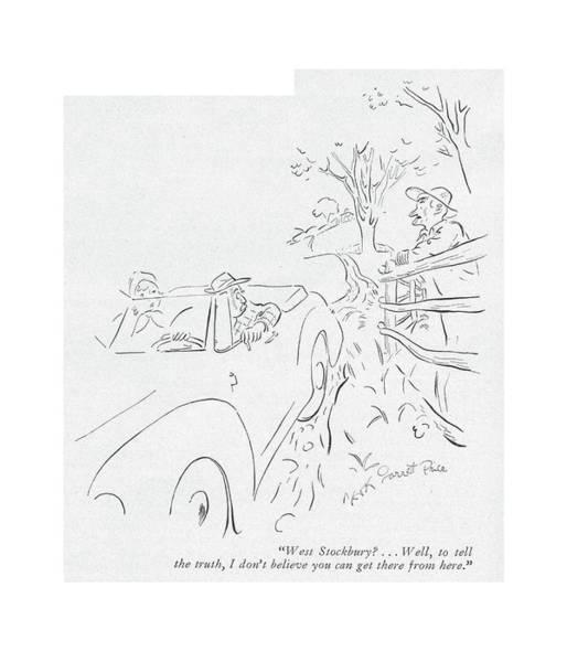 Road Trip Drawing - West Stockbury? . . . Well by Garrett Price