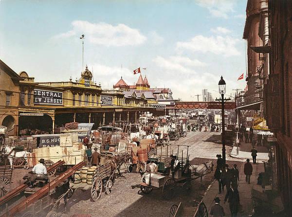 Wagon Digital Art - West Street New York 1901 by Unknown