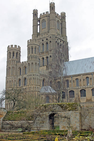 West Tower Of Ely Cathedral  Art Print