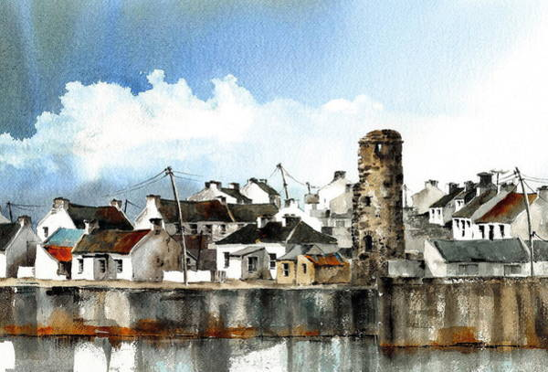Painting - West Village Tory Island  Donegal by Val Byrne
