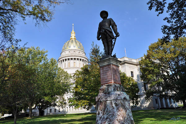 Photograph - West Virginia Capitol And Stonewall Jackson by Paulette B Wright