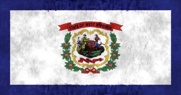 Charleston Digital Art - West Virginia Flag by World Art Prints And Designs