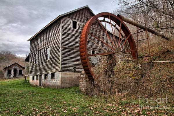 Photograph - West Virginia Historic Grist Mill by Adam Jewell