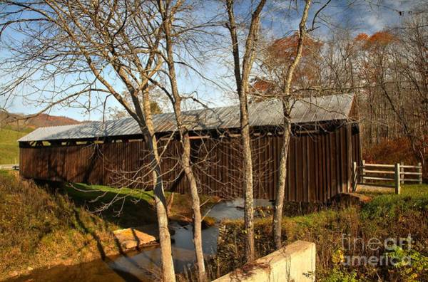 Photograph - West Virginia Locust Creek Covered Bridge by Adam Jewell