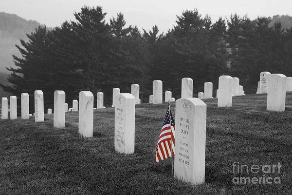 Photograph - West Virginia National Cemetery by Jim West