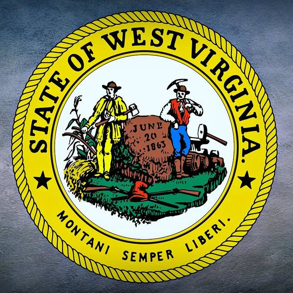 Digital Art - West Virginia State Seal by Movie Poster Prints