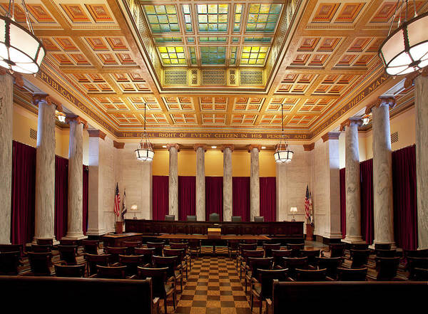 Tile Floor Wall Art - Photograph - West Virginia Supreme Court by Thorney Lieberman