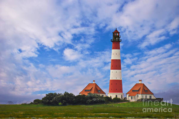 Photograph - Westerhever Lighthouse No 2 by Angela Doelling AD DESIGN Photo and PhotoArt