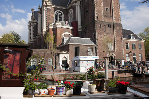 Prinsengracht Photograph - Westerkerk Church In Amsterdam by Artur Bogacki