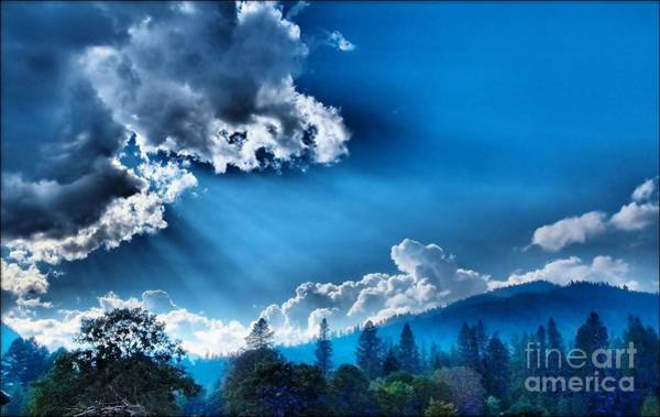 Westerly Clouds Art Print