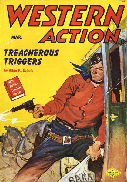 Photograph - Western Action Comic Book Cover by Studio Art