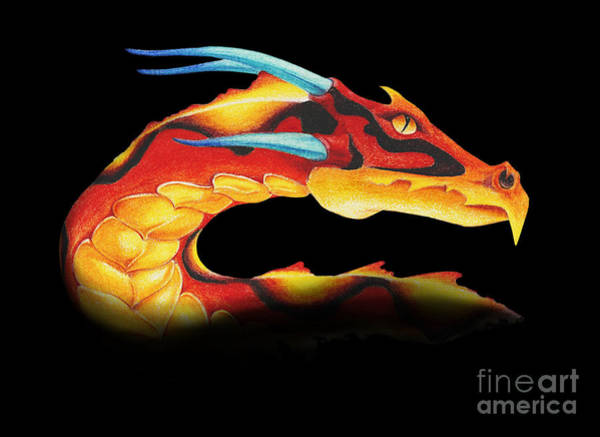 Wall Art - Digital Art - Western Dragon by Melissa A Benson