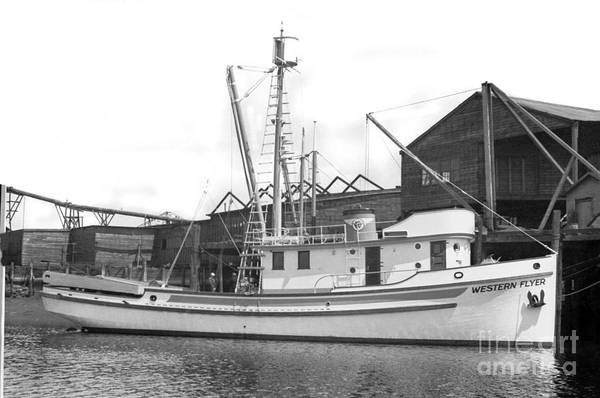 Photograph - Western Flyer Purse Seiner Tacoma Washington State March 1937 by California Views Archives Mr Pat Hathaway Archives