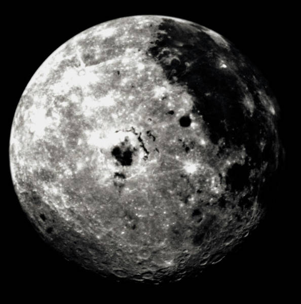 Hemisphere Wall Art - Photograph - Western Hemisphere Of Moon From Galileo Spacecraft by Nasa/science Photo Library