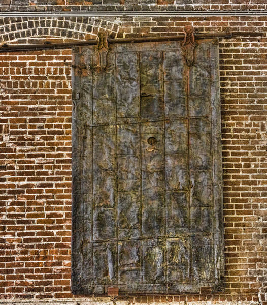 Digital Art - Western Metal Supply Door by Photographic Art by Russel Ray Photos