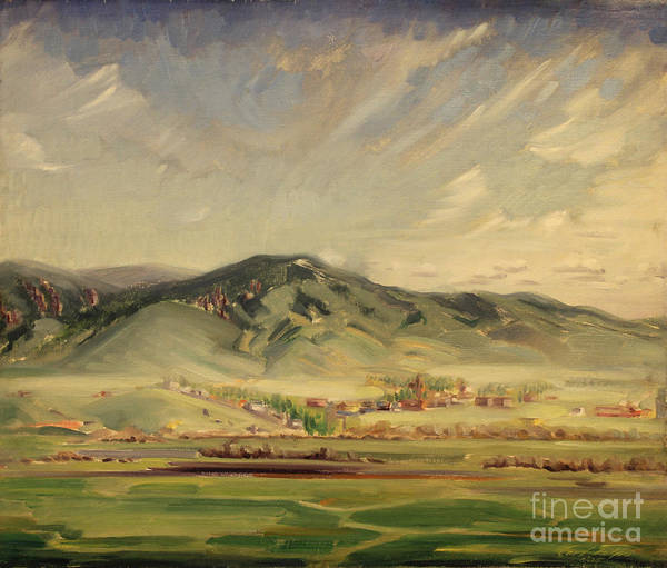 Painting - Western Mountain Town 1935 by Art By Tolpo Collection