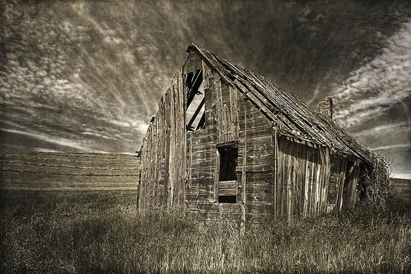 Photograph - Western Plains Barn by Wes and Dotty Weber