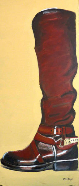 Painting - Western Riding Boot by Richard Le Page