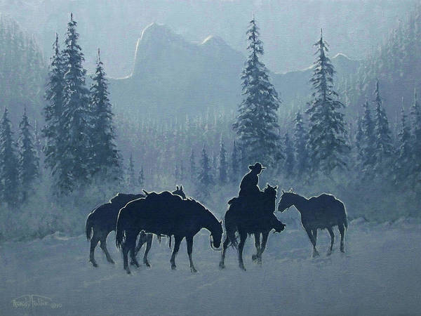 Follis Wall Art - Painting - Western Winter by Randy Follis