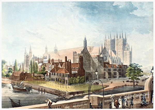Wall Art - Photograph - Westminster Abbey, 1819 by Granger
