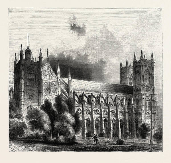 Wall Art - Drawing - Westminster Abbey, London, Uk. Is A Large by English School