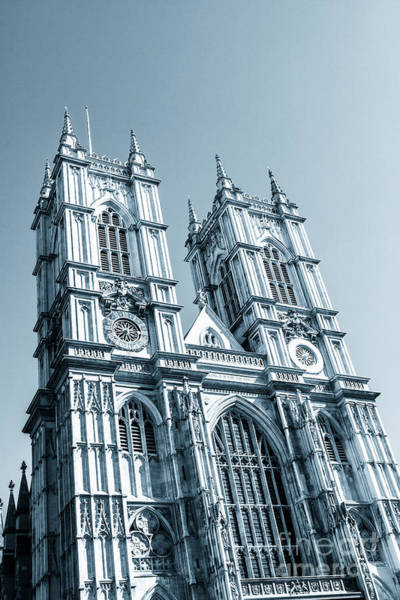 Photograph - Westminster Abbey Towers Exterior London. by Peter Noyce