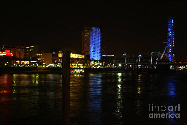 Photograph - River Thames At Night by Doc Braham
