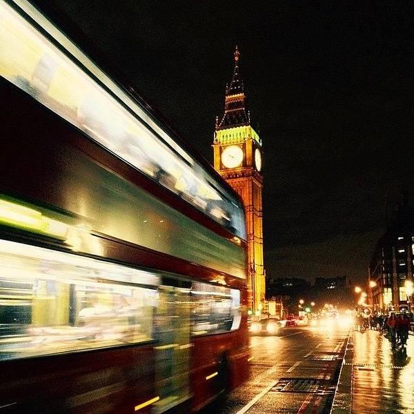 Bus Photograph - #westminster #bridge #bigben #big #ben by Frankie Melvin