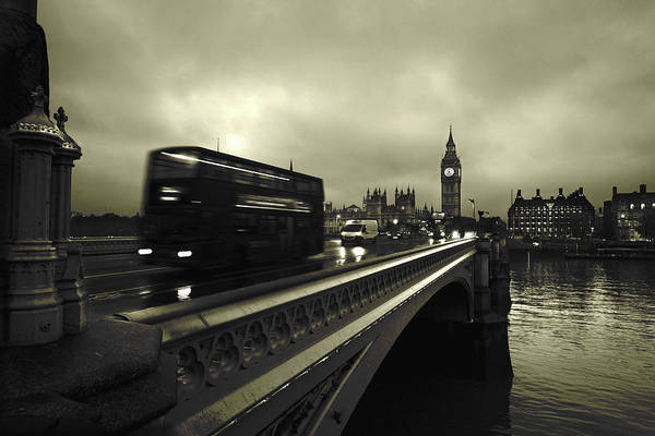 Traffic Wall Art - Photograph - Westminster Bridge by Scott Lanphere