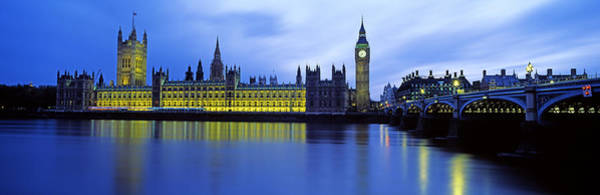 Houses Of Parliament Wall Art - Photograph - Westminster Bridge With Houses by Panoramic Images