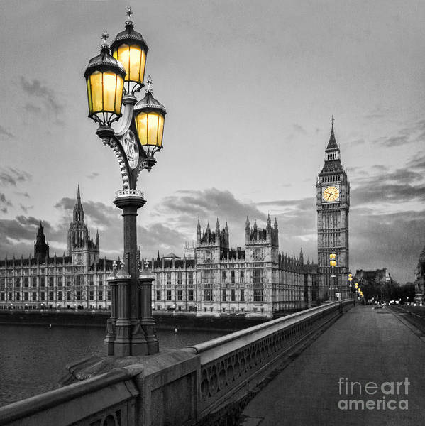 Road Photograph - Westminster Morning by Colin and Linda McKie