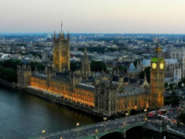 Digital Art - Westminster Palace Da 01 by Lance Vaughn