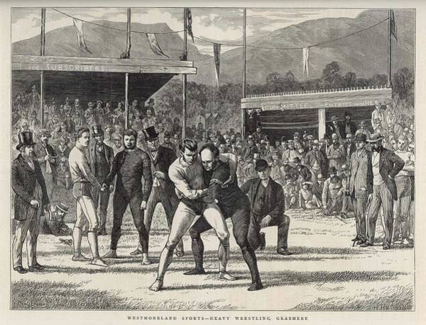 Wall Art - Drawing - Westmoreland Sports, Grasmere by  Illustrated London News Ltd/Mar