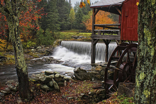 Weston Photograph - Weston Grist Mill by Priscilla Burgers