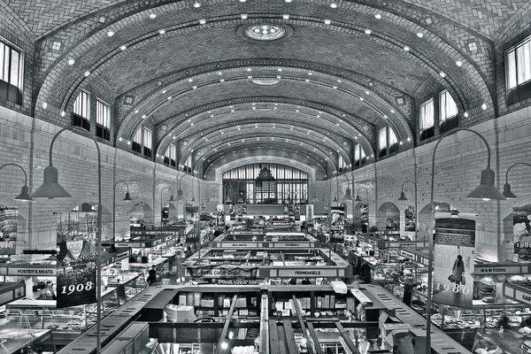 Playhouse Photograph - Westside Market Grayscale by Frozen in Time Fine Art Photography