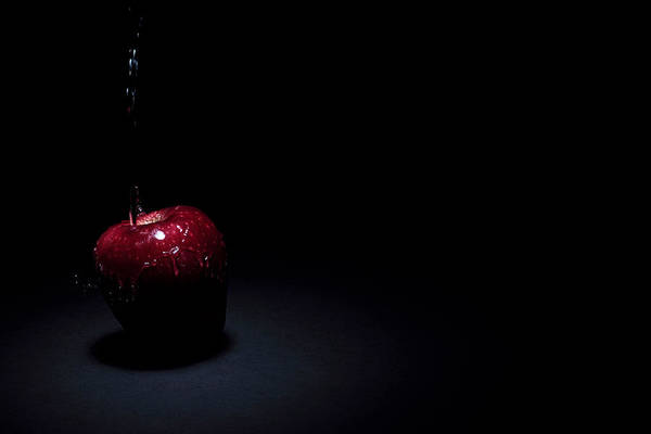 Photograph - Wet Apple by Paul Watkins