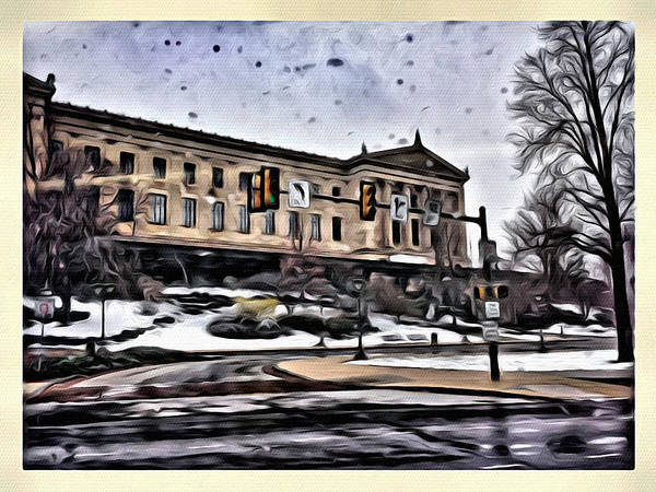 Photograph - Wet Art Museum Day by Alice Gipson