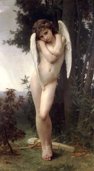 Boudoir Digital Art - Wet Cupid by William Bouguereau