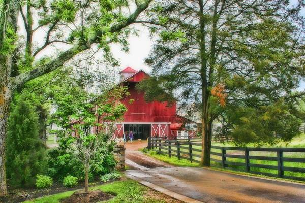 Photograph - Landscape - Barn - Wet Day On The Farm by Barry Jones