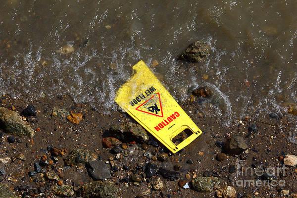 Photograph - Wet Floor Alert by James Brunker