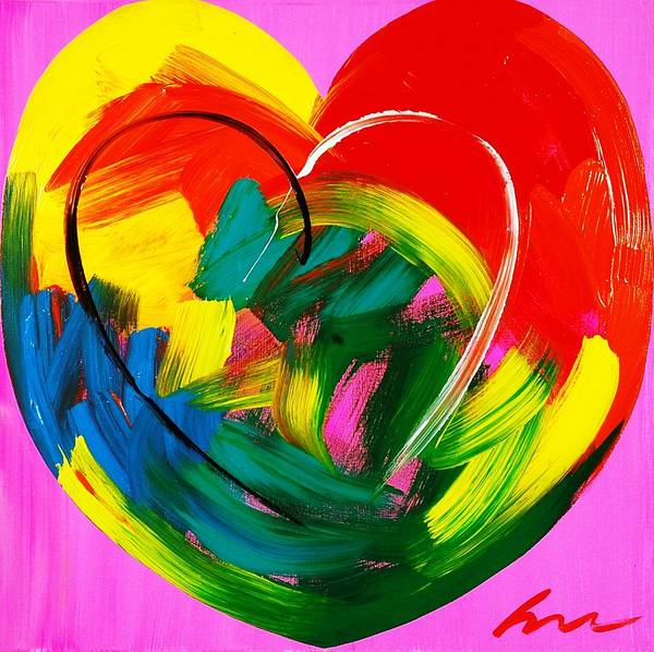 Interior Wall Art - Painting - Wet Heart - Edition 20 by Mac Worthington