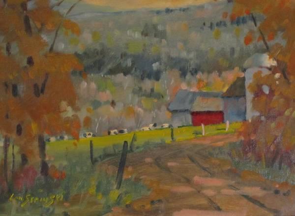 Silo Painting - Wet Paint by Len Stomski