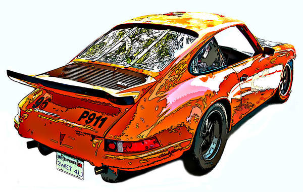 Photograph - Wet Paint Porsche Sp911 by Samuel Sheats