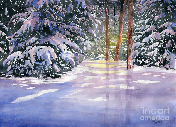 First Snow Wall Art - Painting - New Snow by Melly Terpening