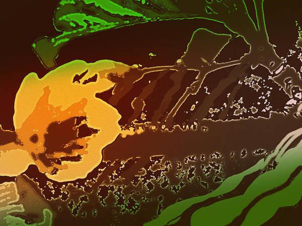 Wiese Digital Art - Wet Tropic Garden by Wendy Wiese
