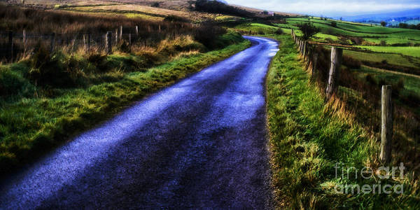 Gaelic Photograph - Wet Winding Road by Thomas R Fletcher
